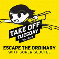 Read more about Scoot Take Off Tuesday fr $5 2hr Promo Fares (7am to 9am) 3 Nov 2015