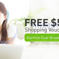 Read more about StarHub Broadband Free $50 Shopping Voucher Promo From 4 Nov 2015