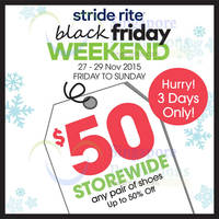 Stride Rite Black Friday Storewide Sale 27 - 29 Nov 2015