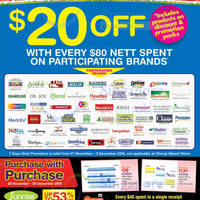Unity Get $20 Off with $80 Purchase on Participating Brands 28 Nov - 3 Dec 2015