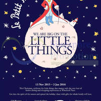 Read more about Wheelock Place Big On The Little Things 15 Nov 2015 - 3 Jan 2016