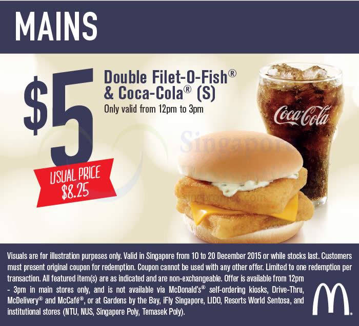 Double filet o fish n coca cola mcdonald s new for Mcdonalds fish fillet deal