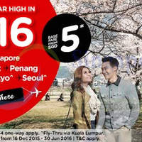 Read more about Air Asia fr $5 Promo Fares 14 - 20 Dec 2015