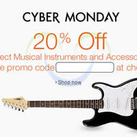 Amazon.com 20% OFF Musical Instruments & Accessories (NO Min Spend) Coupon Code 1 - 5 Dec 2015