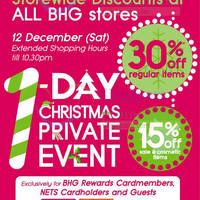 Read more about BHG 30% Off Storewide 1-Day Promo 12 Dec 2015
