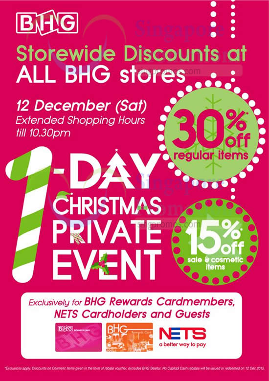 Bhg 30 off storewide 1 day promo 12 dec 2015 for Bhg shopping