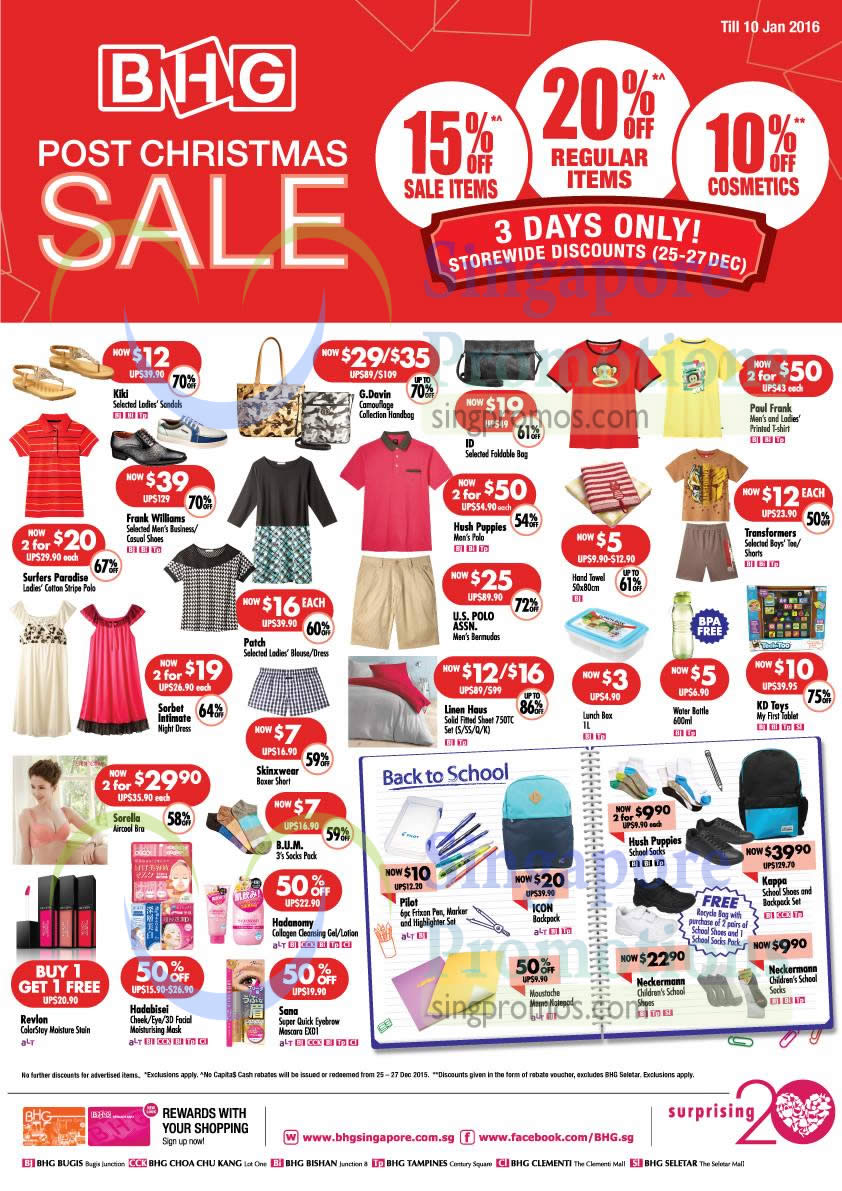 Bhg 25 dec 2015 bhg 20 off storewide super sale 25 27 for Bhg shopping