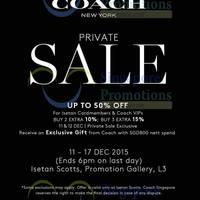 Read more about Coach Private Sale @ Isetan Scotts 11 - 17 Dec 2015