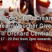 Read more about Cold Stone Creamery FREE Ice Cream Vouchers @ Orchard Central 17 - 20 Dec 2015