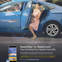 Comfort Delgro Taxi Booking App Fee Waiver MasterPass Promo 1 - 31 Dec 2015