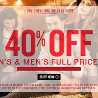 Read more about Cotton On 40% OFF Women's & Men's 24hr Promo 18 Dec 2015