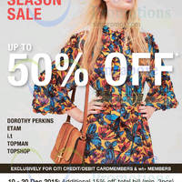 Read more about Dorothy Perkins, Etam, Topman, Topshop Sale From 10 Dec 2015