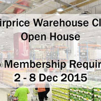 Read more about FairPrice Warehouse Club Open House (NO Membership Required) 2 - 8 Dec 2015