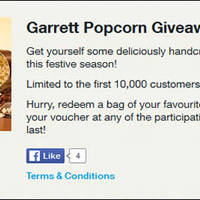 Read more about (Fully Redeemed!) Garrett Popcorn FREE Giveaway For Singtel Customers From 10 Dec 2015