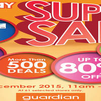 Read more about Guardian 1-Day Super Sale Up To 80% Off @ 61 Outlets 30 Dec 2015
