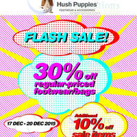 Read more about Hush Puppies Footwear & Apparel 30% Off Flash Sale 17 - 20 Dec 2015