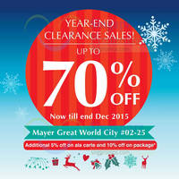 Read more about Mayer Clearance Sales @ Great World City 3 - 31 Dec 2015