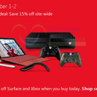 Microsoft Store 15% Off Storewide 48hr Promotion 1 - 2 Dec 2015