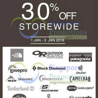 Read more about Outdoor Life 30% Off Storewide Promo 1 - 3 Jan 2016
