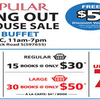 Read more about Popular Book Buffet Moving Out Warehouse Sale 24 - 27 Dec 2015