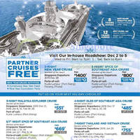 Royal Caribbean Partner Crusies Free* & More In-house Promo 2 - 5 Dec 2015