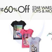Read more about Star Wars Up to 60% Off Clothing, Toys & More 24hr Promo 15 - 16 Dec 2015
