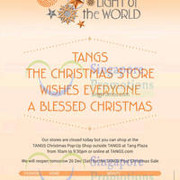 Read more about Tangs Post Christmas Sale From 26 Dec 2015