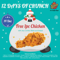 Read more about Texas Chicken Free 1pc Chicken w/ Combo Meal Purchase 1-Day Promo 14 Dec 2015