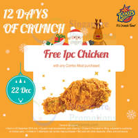 Read more about Texas Chicken Free 1pc Chicken w/ Combo Meal Purchase 1-Day Promo 22 Dec 2015