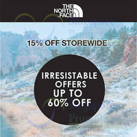 Read more about The North Face 15% Off Storewide 18 Dec 2015 - 3 Jan 2016