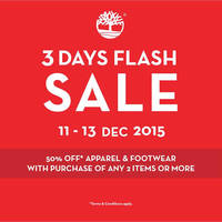 Read more about Timberland 50% Off Weekend Sale 11 - 13 Dec 2015