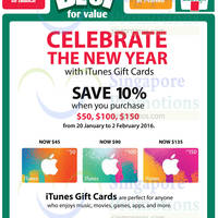 Read more about iTunes Gift Cards 10% OFF Promotion 7-Eleven 20 Jan - 2 Feb 2016