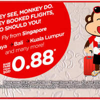 Read more about Air Asia fr $0.88 Promo Fares 18 - 24 Jan 2016