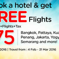 Read more about Air Asia Go fr $75/pax (3D2N Hotel, Flights + Taxes) Free Flights Sale 1 - 7 Feb 2016