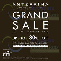 Read more about Anteprima Grand Sale @ Paragon 7 - 10 Jan 2016