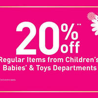 Read more about BHG 20% Off Children's, Babies' & Toys Promotion 25 Jan - 7 Feb 2016