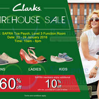 Read more about Clarks Warehouse Sale @ SAFRA Toa Payoh 23 - 24 Jan 2016