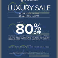 Read more about FJ Benjamin Luxury Sale @ Hilton Hotel 29 - 30 Jan 2016