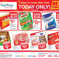 Read more about Fairprice 1-Day CNY Deals (Milo, Brand's, Yeo's & More) 1 Feb 2016
