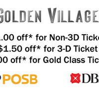 Read more about Golden Village $1 to $3 OFF For DBS/POSB Cardmembers 4 Jan - 29 Feb 2016
