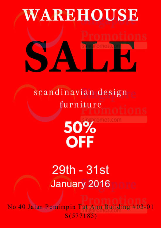 Hommage lifestyle furniture warehouse sale 29 31 jan 2016 for Furniture warehouse sale