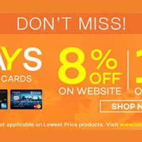 Read more about Lazada 8% Off For DBS/POSB Cardmembers (Fridays) From 1 Jan 2016