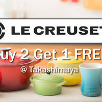 Read more about Le Creuset Buy 2 Get 1 FREE Promo @ Takashimaya 15 - 17 Jan 2016