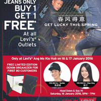 Read more about Levi's 1-FOR-1 Promotion @ All Outlets From 15 Jan 2016