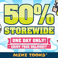 Read more about Mini Toons 50% Off Storewide w/ Free Shipping 1-Day Promo 20 Jan 2016