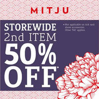 Read more about Mitju Storewide 50% Off 2nd Item From 8 Jan 2016