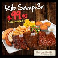 Read more about Morganfield's Singapore $23 Off Rib Sampl3r Sharing Platter From 4 Jan 2016