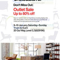 Read more about Crate and Barrel & CB2 Warehouse Sale 9 - 10 Jan 2016