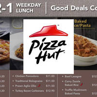 Read more about Pizza Hut 1-for-1 Lunch Dining Deals (Weekdays) 13 - 29 Jan 2016