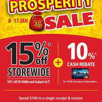 Read more about Popular 15% Off Storewide Prosperity Sale 8 - 17 Jan 2016